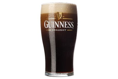 Guinness Draught beer: Two thirds of a glass is 100 calories