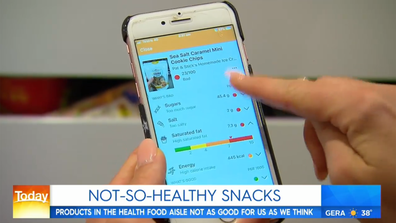 Health app Init lets you scan any food item's barcode for a health score.