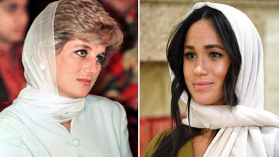 Princess Diana and the Duchess of Sussex
