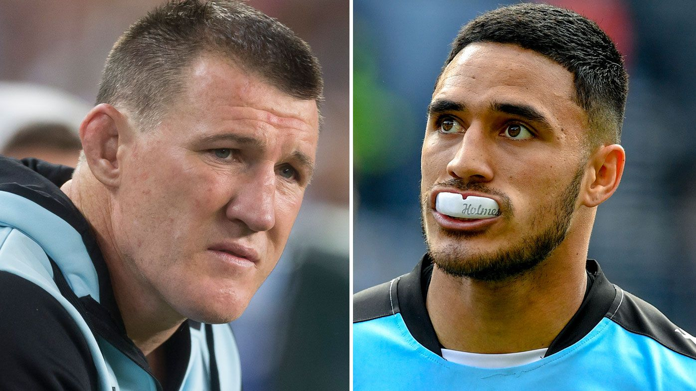 Sharks captain Paul Gallen calls for Valentine Holmes to barred from returning to NRL
