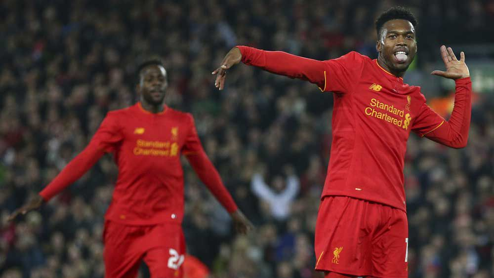 Daniel Sturridge scored against Tottenham. (AAP)