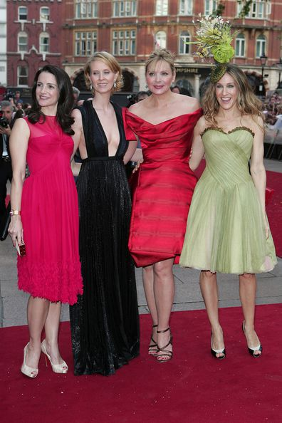 Kristin David, Cynthia Nixon, Kim Cattrall and Sarah Jessica Parker attend the World Premiere of Sex And The City in London in 2008.