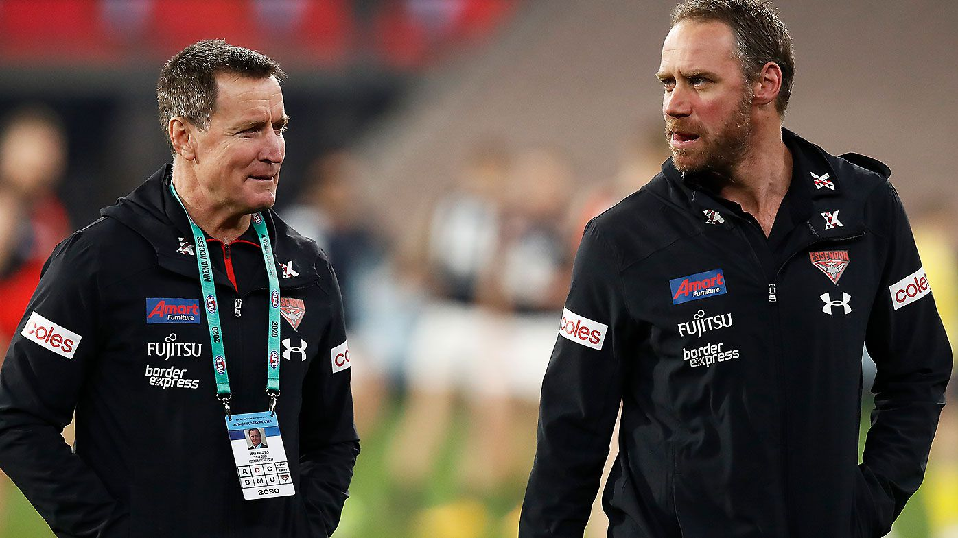 Essendon review reveals key breakdown between John Worsfold and Ben Rutten during 2020 season