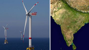 Wind farm the size of India could power the entire world: study