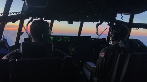 Pilots from the Hurricane Hunters fly their plane towards Hurricane Dorian, to measure data generated by the Category 5 storm.