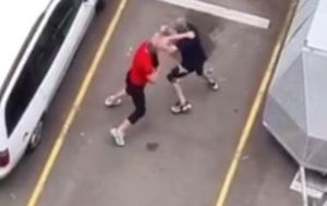 'Upper cut, upper cut, get him': Carpark fight club filmed by screaming bystanders in western Sydney