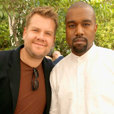 James Corden and Kanye West.