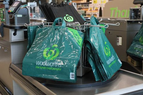 Reusable plastic bags will be  a necessity on your next shopping trip to Woolies. Picture: AAP
