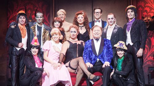 McLachan and the cast of The Rocky Horror Show. (AAP)