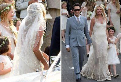 03ac5c22b21 Kate Moss  wedding dress saved my life  John Galliano - 9Style