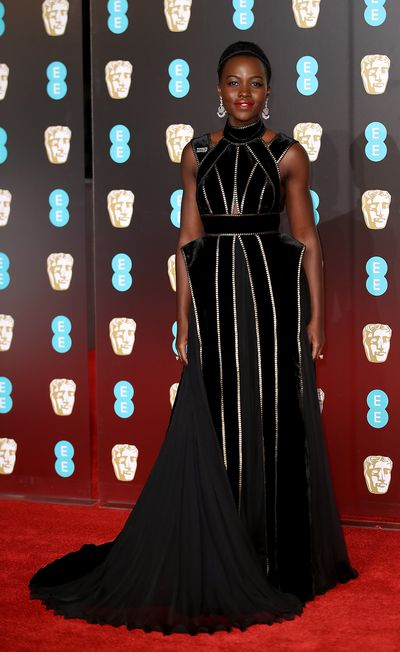Lupita Nyong'o in Elie Saab at the British Academy Film Awards (BAFTAs)