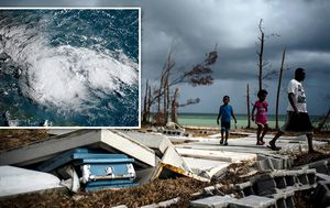 Cleanup resumes as Humberto swirls away from Hurricane Dorian-devastated Bahamas