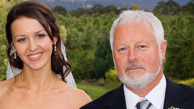 Danielle Conlan with her father Chris at her wedding