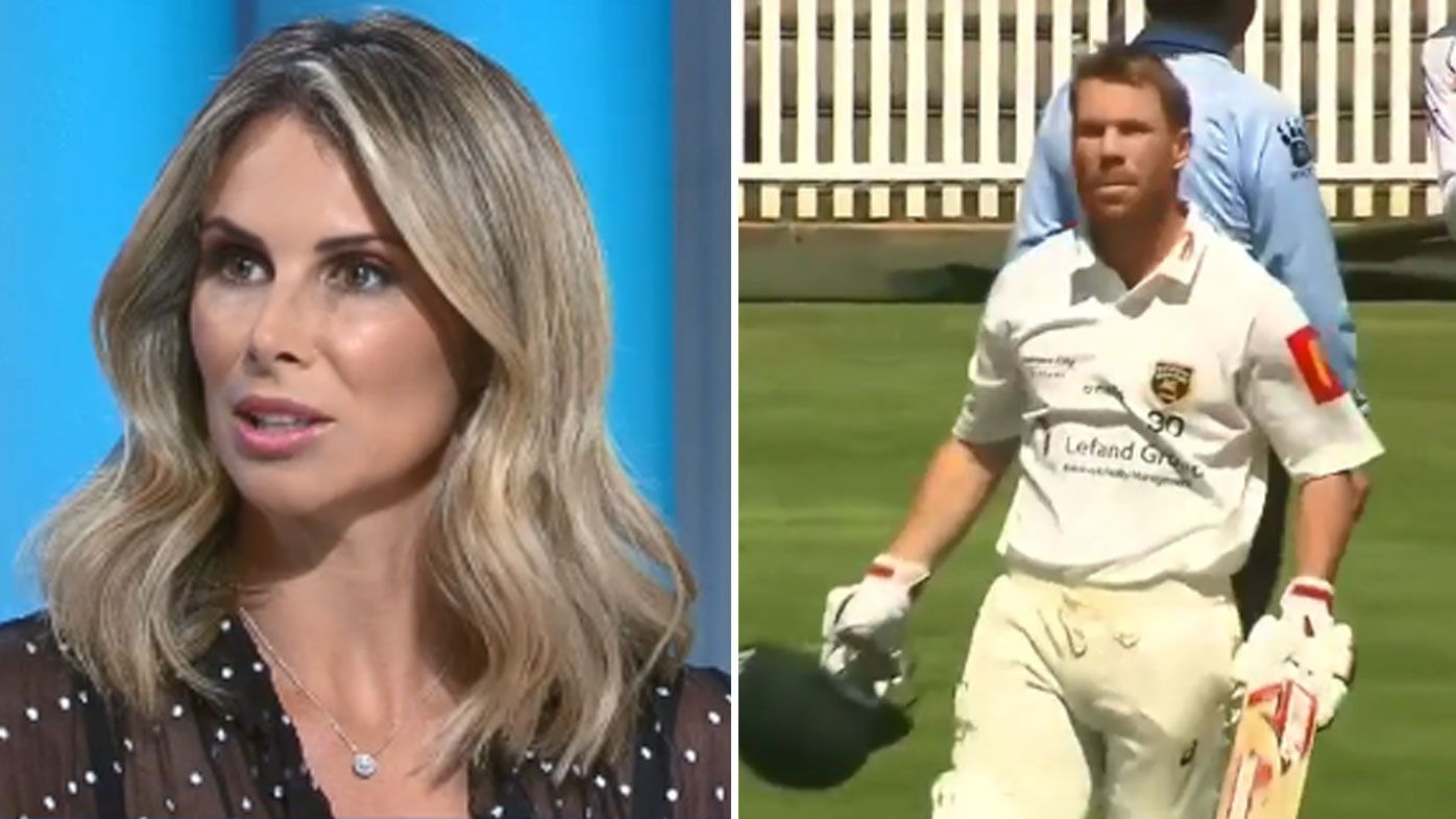 Candice Warner defends her husband