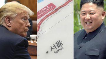 Donald Trump and Kim Jong Un composite photo.