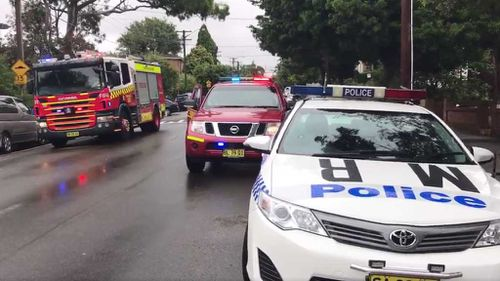 Emergency services responded to a unit block on Ewart Street. (Twitter)