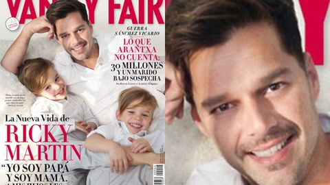 Gay dad Ricky Martin shows off his adorable twins in Vanity Fair, says he's 'slept with women and felt wonderful things'