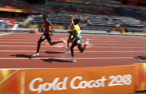 Deng was controversially selected to run the 800m race at the Gold Coast Commonwealth Games in April despite not qualifying for the final at the trials. Just three months later, he's the fastest 800 metre runner in Australia in half a century. Picture: AAP