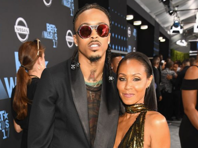 August Alsina and Jada Pinkett Smith at the 2017 BET Awards at Staples Center on June 25, 2017 in Los Angeles, California.