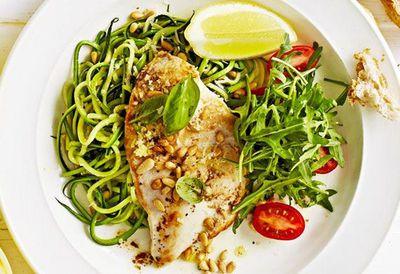 """Recipe: <a href=""""https://kitchen.nine.com.au/2016/05/20/10/00/weight-watchers-chicken-with-zucchini-noodles"""" target=""""_top"""">Chicken with zucchini noodles</a>"""