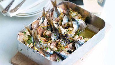 """Recipe: <a href=""""http://kitchen.nine.com.au/2016/05/16/15/14/sardines-beccaficcu"""" target=""""_top"""">Sardines beccaficcu</a>"""