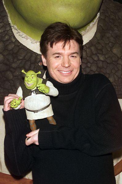 Mike Myers, Shrek', premiere, 2001, New York City