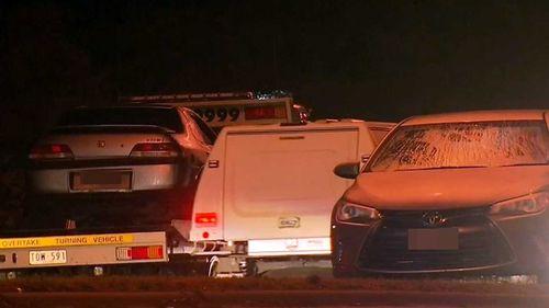 The successive crashes unfolded on Monday night.