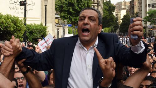Egypt sentences journalist union head to two years' jail