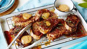 Vegemite glazed steak