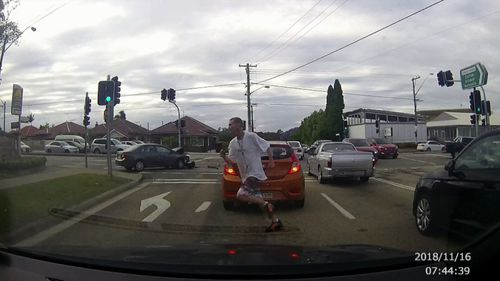 James Purcell was filmed on dash cam crashing an allegedly stolen ute into a car, before running to then  carjack the vehicle of a good samaritan who rushed to help the possibly injured driver.