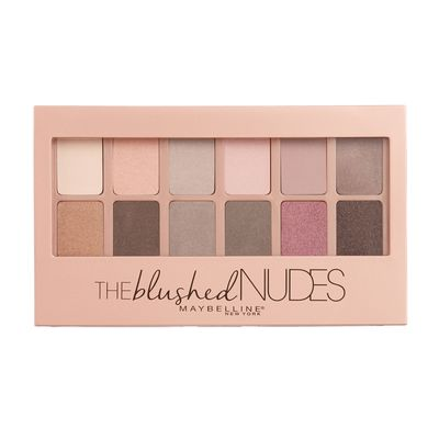 """<a href=""""http://www.maybelline.com.au/Products/eye-makeup/eye-shadow/The%20Blushed%20Nudes%20Palette.aspx?shade=Blushed+Nudes&gclid=CMCRmZDkpM8CFdgkvQodF1EOZQ"""" target=""""_blank"""">Maybelline New York</a> Blushed Nudes Palette, $25.95."""