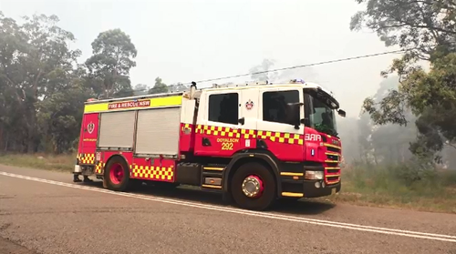Almost 80 firefighters from NSW Rural Fire Services and NSW Fire and Rescue attended the blaze.
