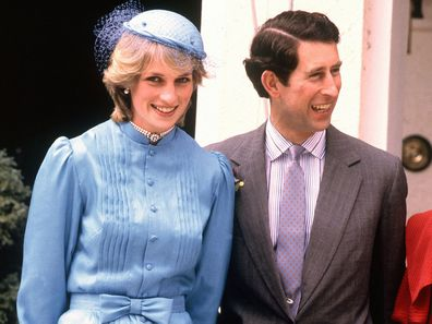 Prince Charles and Princess Diana at Government House, Canberra in 1983.