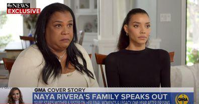 Naya Rivera's mum and sister