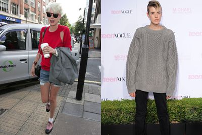 Agyness Deyn. Supermodel of the moment, queen of the hipsters. Nothing does it like an androgynous haircut and white, rolled-down socks.