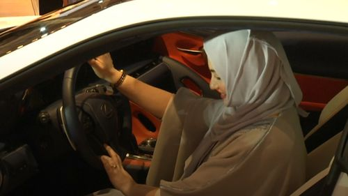 Ghada Ahmen tests out one of the new vehicles.