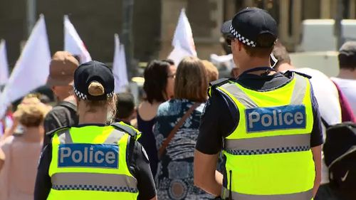 The Victorian Coalition government is pledging more police for the frontline. (9NEWS)