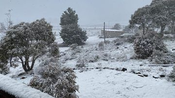 Snow falls in Tasmania as heatwave rolls over half the country