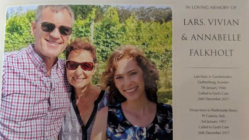 "The funeral notice described Lars, Vivian and Annabelle as ""dearly loved"". (Supplied)"