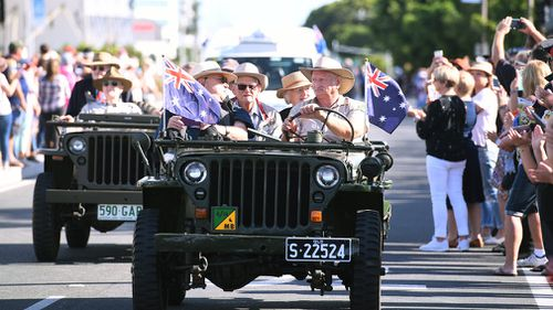 The RSL will also be asking non-veterans to pin medals to their right chest instead of the left so they cannot be confused with actual servicemen and women. (AAP)