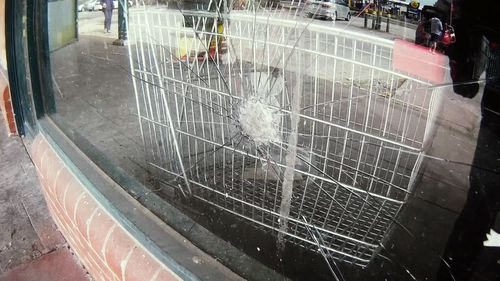 Shop owners have seen their premises damaged.