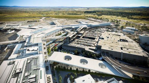 Solar panels will an environmentally conscious to the new-look airport.