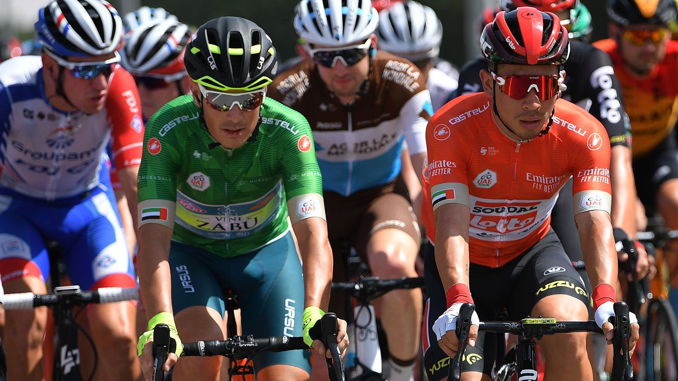 Riders compete in the UAE Tour