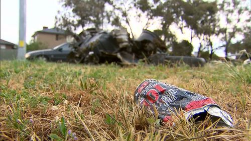 Debris is strewn for about 100m. (9NEWS)