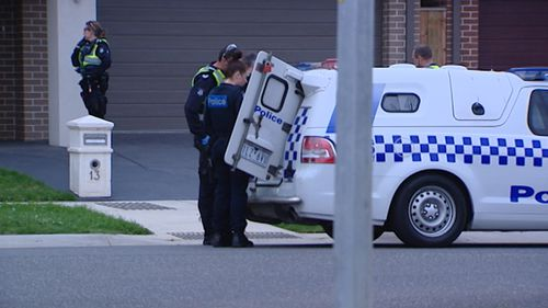 Police arrested a woman at a Clyde North home last night after a man was stabbed in an altercation.