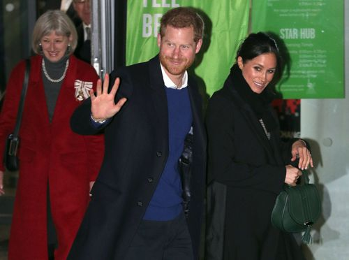 Prince Harry and Meghan Markle arrived to much fanfare in Wales. (AAP)