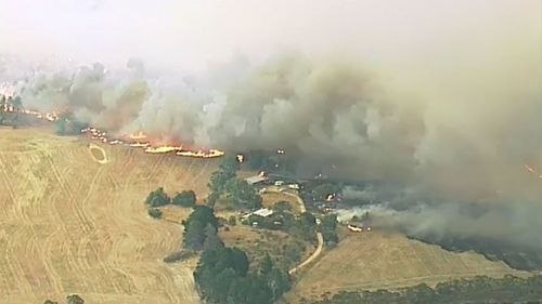 The fast-burning fire tore though 14,000 hectares of pastoral land. (9NEWS)