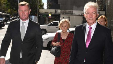 Anthony Bell (left) outside court this morning. (AAP)