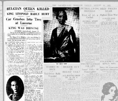 Queen Astrid  The Courier-Mail (Brisbane, Qld. : 1933 - 1954)