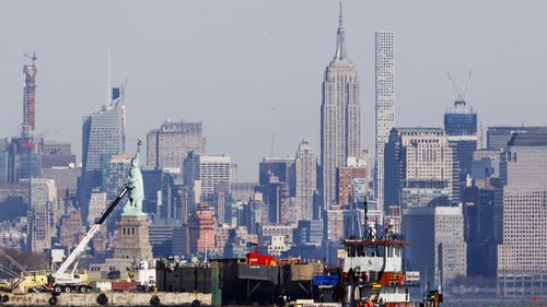 The Empire State Building dominates the New York skyline 90 years after it was built.
